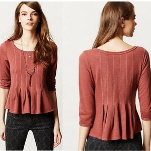 Anthropologie Saturday Sunday Pleated Peplum Top